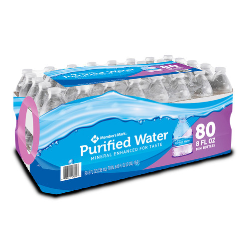 Member's Mark Purified Bottled Water (8oz / 80pk) - *In Store