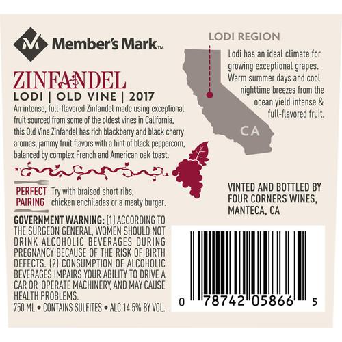 Member's Mark Old Vine Zinfandel (750 ml)
