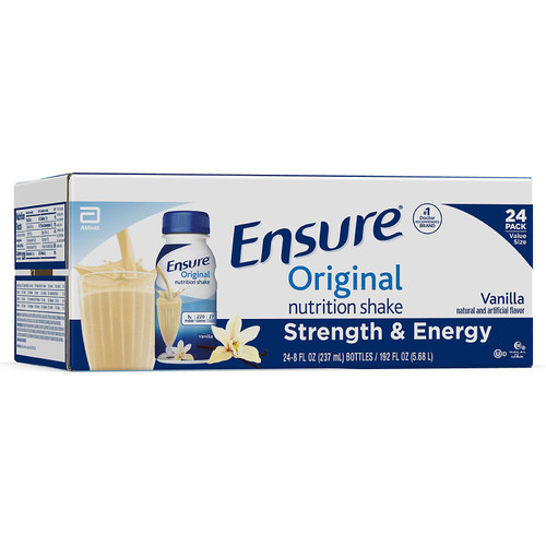 Ensure Original Nutrition Vanilla Meal Replacement Shakes with 9g of Protein (8 fl. oz., 24 ct.) - *In Store