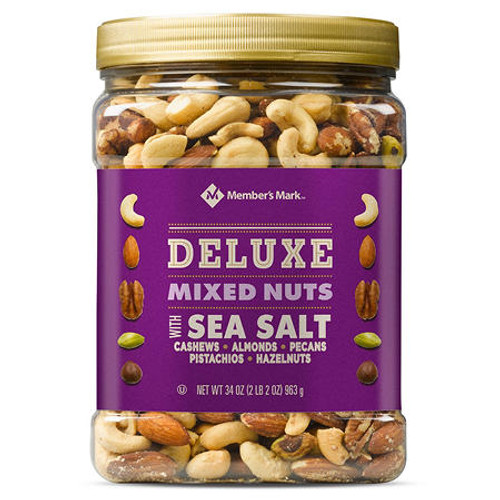Member's Mark Deluxe Mixed Nuts with Sea Salt (34 oz.) - *In Store
