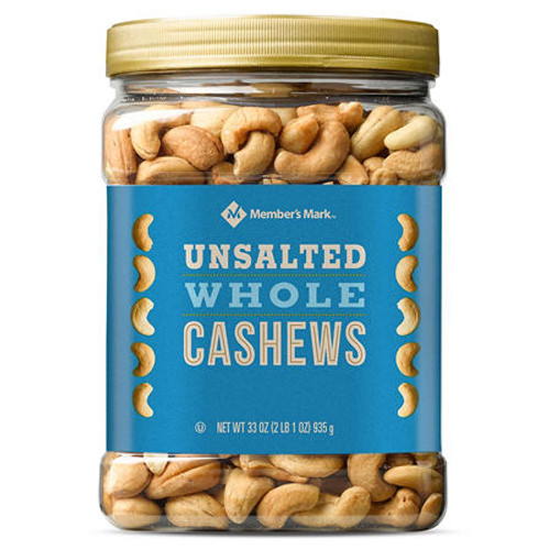 Member's Mark Unsalted Whole Cashews (33 oz.) - *In Store