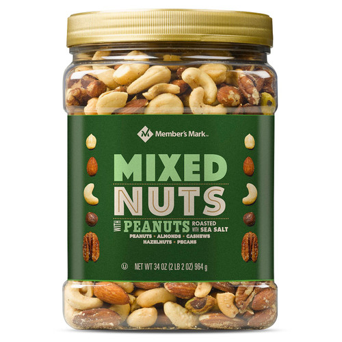 Member's Mark Roasted and Salted Mixed Nuts with Peanuts (34 oz.) - *In Store