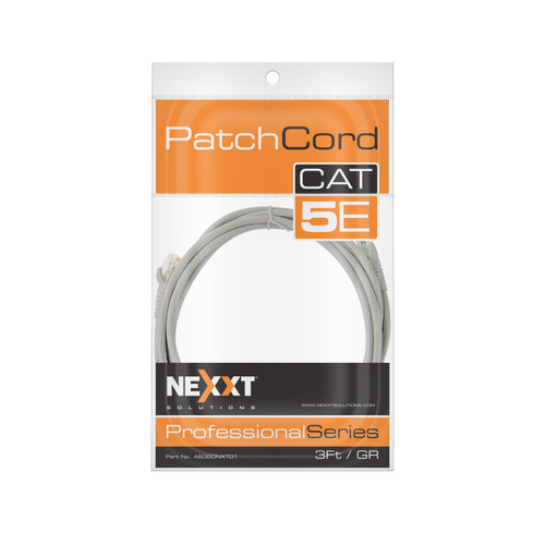 NEXXT 3FT GREY UTP CAT5 PATCH CABLE