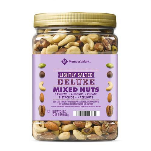 Member's Mark Lightly Salted Deluxe Mixed Nuts (34oz) - *In Store