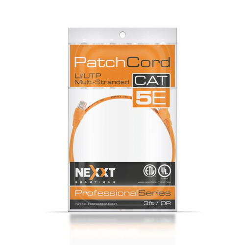Nexxt Solutions Infrastructure U/UTP Cat5e Patch Cord 7 Ft.
