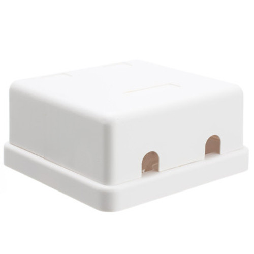 DUAL PORT BLANK SURFACE BOX WHITE