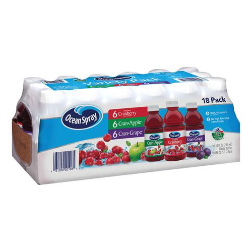 Ocean Spray Juice Drink Variety Pack (10oz / 18pk) - *In Store