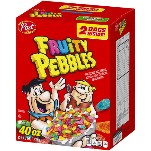 POST FRUITY PEBBLES CEREAL 40OZ