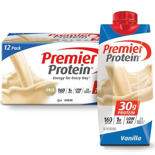 Premier Protein High Protein Shake, Vanilla (11 fl. oz., 12 pack) - *In Store