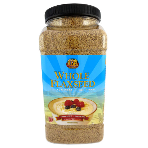 Premium Gold Whole Flaxseed (96 oz. ea., 4 ct. case) - *In Store