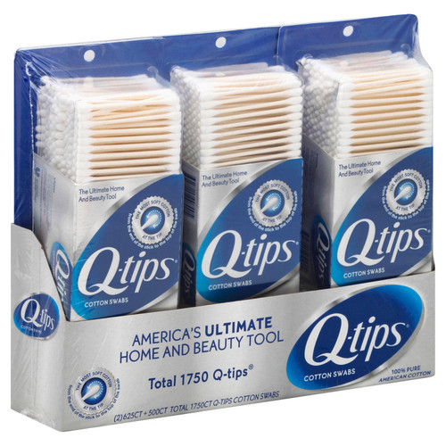Q-tips Cotton Swabs (625 ct., 2 pk. + 500 ct., 1 pk.) - *In Store