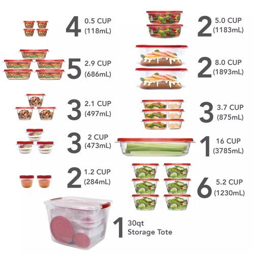 RUBBERMAID 64 PIECE FOOD STORAGE
