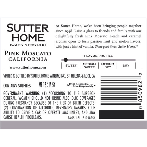 Sutter Home California Pink Moscato (1.5L)