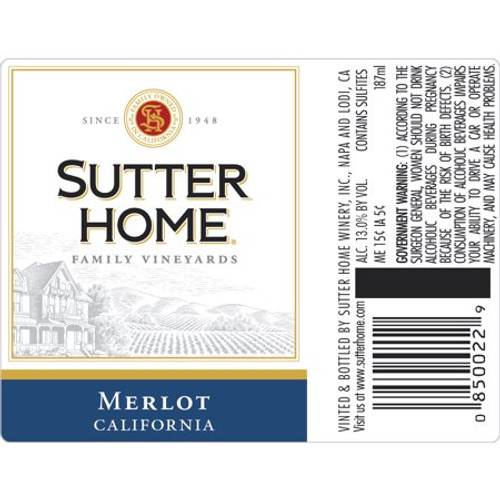 Sutter Home Merlot Red Wine