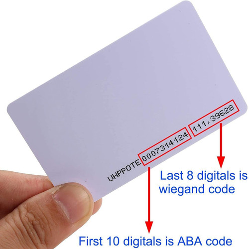 UHPPOTE Contactless 125kHz RFID Proximity Smart Card 0.8mm thick for Access Control System & Time Attandance (Single)