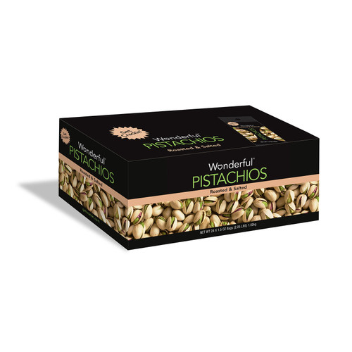 Wonderful Pistachios, Roasted and Salted (1.5 oz., 24 ct.) - *In Store