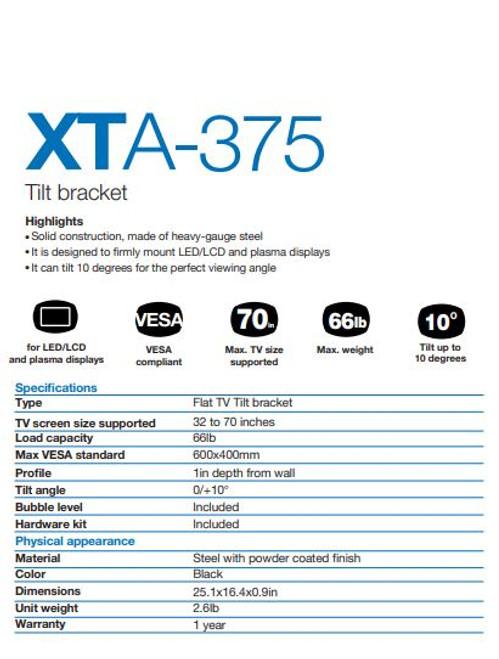 XTECH W/MNT BRACKET- XTC-375