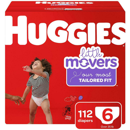 HUGGIES LITTLE MOVERS DIAPERS SIZE 6 112 CT