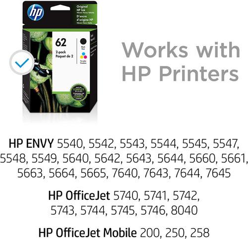 INK CARTRIDGE, HP #62 COLOR