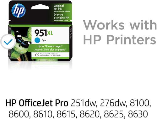 INK CARTRIDGE, HP #951 XL CYAN