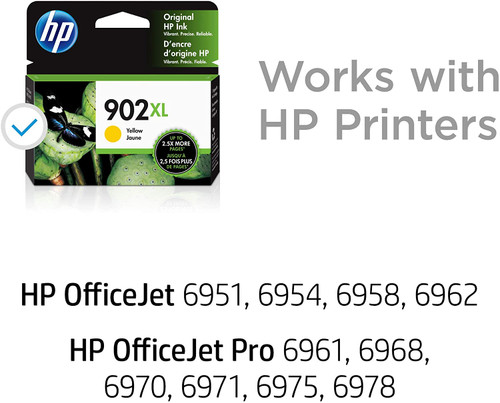 INK CARTRIDGE, HP #902XL YELLOW
