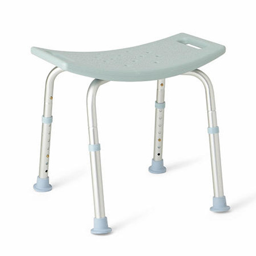 Backless Medline Bath Bench with Microban, Light Blue - *Special Order