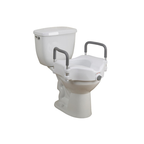 Elevated Raised Toilet Seat with Removable Padded Arms - *Special Order