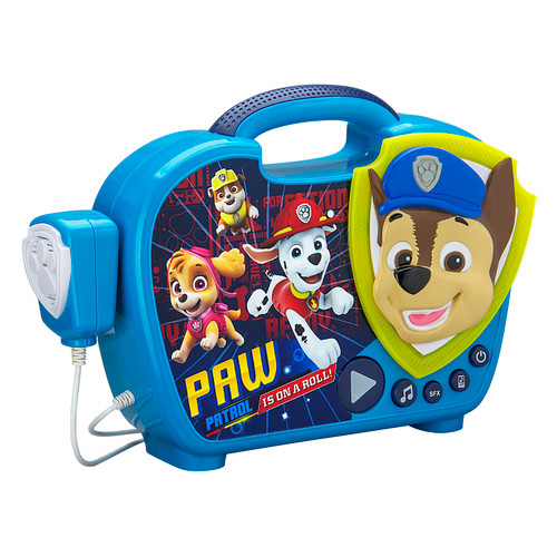 Paw Patrol Sing Along Boombox with Microphone. Sing Along to Built in Music. Real Working Microphone. Connects to your MP3 Player Device.