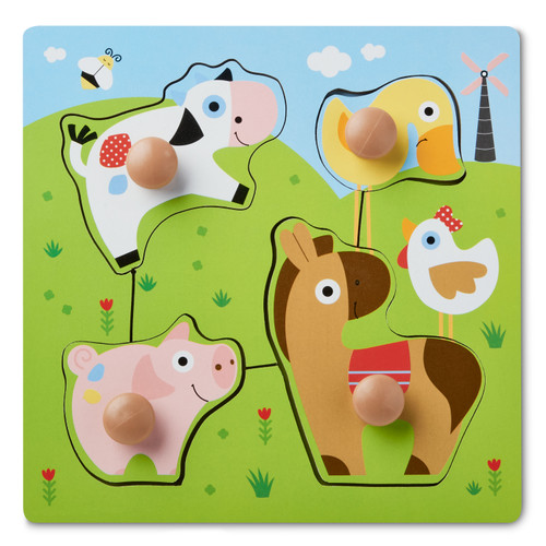 Spark. Create. Imagine Wooden Puzzle, Farm Animals