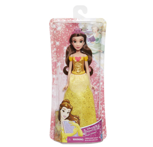 Disney Princess Royal Shimmer Belle with Sparkly Skirt, Tiara, Shoes