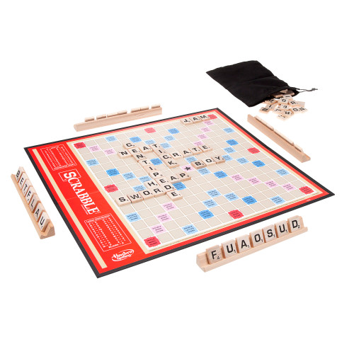 Classic Scrabble Crossword Board Game for Ages 8 and up