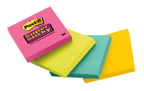 "Post-it Super Sticky Notes, 3"" x 3"", Green, 1 Pack  - *Ships from Miami*"