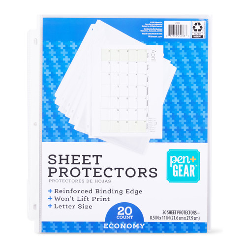 Pen + Gear Standard Sheet Protectors 20 Sheets, 8.5-inches x 11-inches