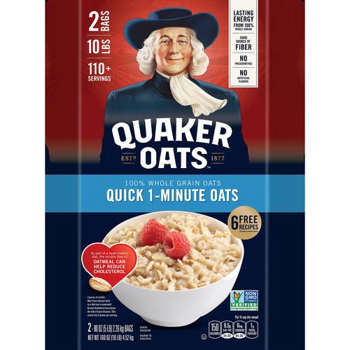 Quaker Quick 1-Minute Oats (5 lb., 2 pk.) - *In Store