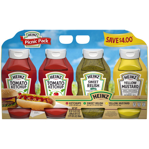 Heinz Condiments Picnic Pack (4 pk.) - *In Store