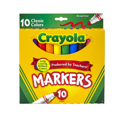 Crayola Marker Set, 10-Colors  - *Ships from Miami*