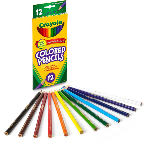 Crayola Colored Pencil Set in Assorted Colors, 12 Count, School Supplies, Ages 5 and Up  - *Ships from Miami*