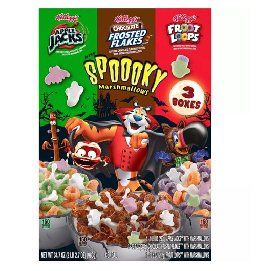 Kellogg's Halloween Edition Breakfast Cereal, Variety Pack (34.7 oz.) - *In Store