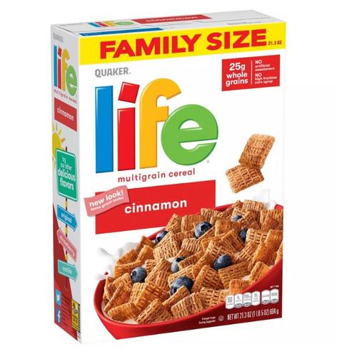 Quaker Life Multi-Grain Cereal, Cinnamon (42.6 oz., 2 pk.) - *In Store