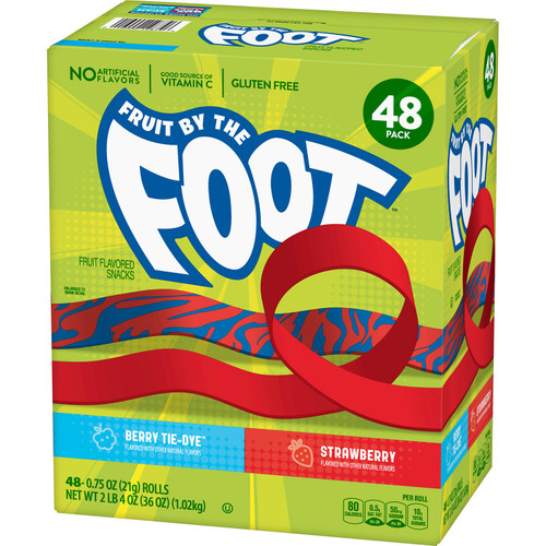 Fruit by the Foot Snacks, Berry Tie-Dye and Strawberry Variety Pack (48 ct.) - *In Store
