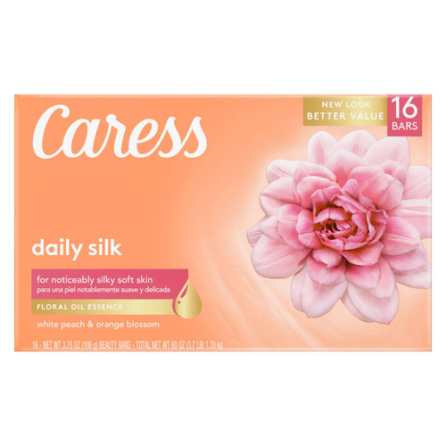 Caress Silkening Beauty Bar, Daily Silk (3.75 oz., 16 ct.) - *In Store