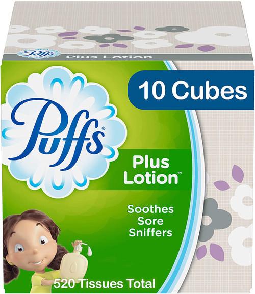 PUFFS/LOTION 10PK FACIAL TISSUES