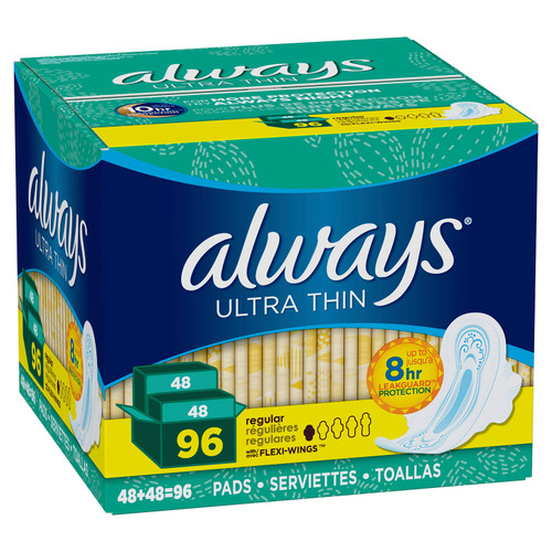 Always Ultra Thin Regular Pads with Wings (96 ct.) - *In Store