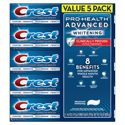 Crest Pro-Health Advanced Whitening Power Toothpaste (6 oz., 5 ct) - *In Store