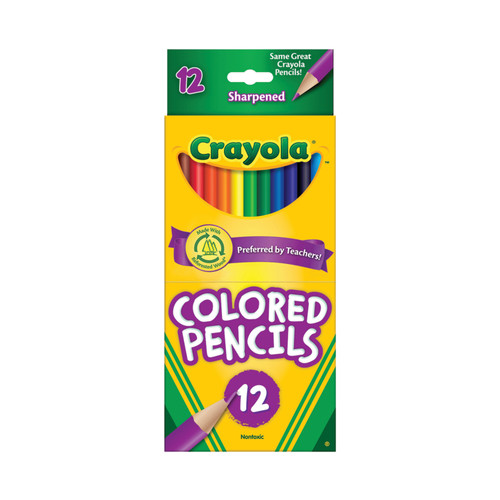Crayola Colored Pencil Set in Assorted Colors, 12 Count, School Supplies, Ages 5 and Up