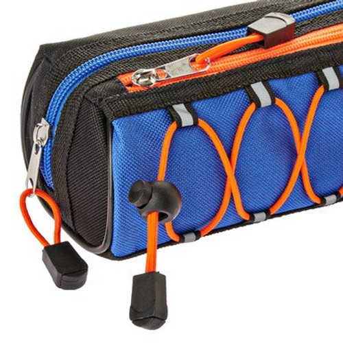 Pen + Gear Pencil Pouch, Bungee, Blue and Orange