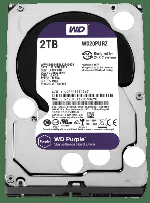 WD Purple Surveillance Hard Drive WD20PURZ - Hard drive - 2 TB