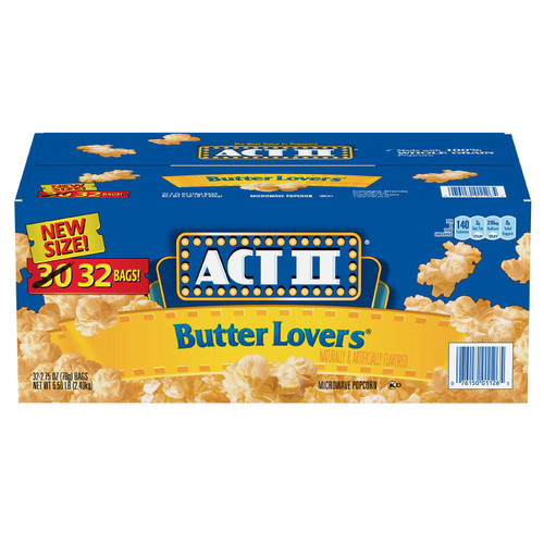 ACT II Butter Lovers Microwave Popcorn (2.75 oz., 32 pk.) - *In Store