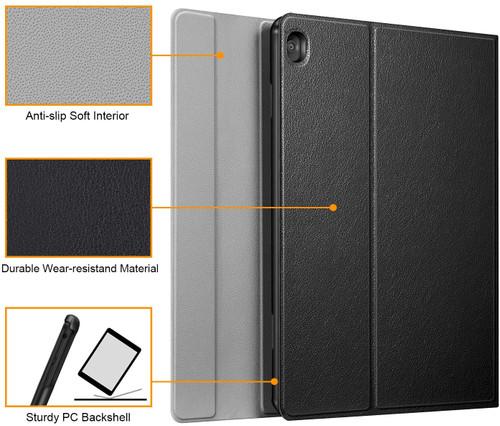 "CaseBotKeyboardCaseforLenovoSmartTabM10HDTB‐X505F/M10TB‐X605F10.1""Tablet,SlimShell LightweightStandCoverwithDetachableWirelessBluetoothKeyboard,Black"