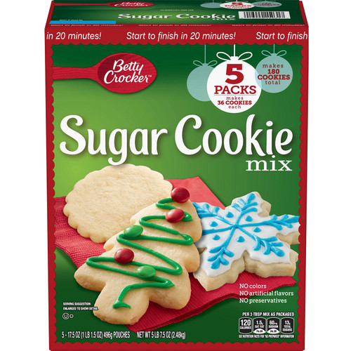 Betty Crocker Holiday Sugar Cookie Mix (17.5 oz., 5 pk.) - *In Store